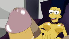 Marge Simpson in sexy stockings wants feels big cock in her wet pussy