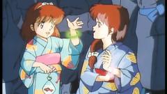 Young hot anime girls in kimono - hentai cartoons