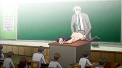 She gets punished in front of classroom - hentai toon