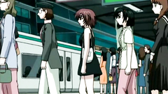 Sexy anime babes getting molested and abused in train