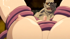 Adorable hentai babes getting fucked by horny monsters