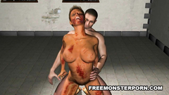 Damaged big breasted chick in hardcore 3d porn toon