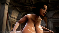 Big titted futanari girl fucks young ebony girl