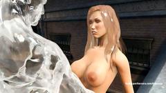 Iceman fucks cute big titted blonde outdoor