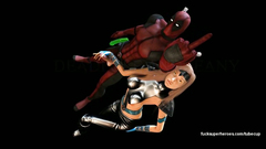 Deadpool fucks young busty blonde in her shaved vagina