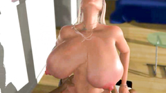 Big titted blonde with huge twat gets big cock in her hole