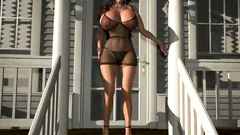 Real 3d pornstar babe in perfect sexy fishnet lingeire