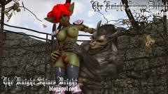 Big 3D Werewolf fucks nasty redhead Orc girl