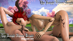 Cute redhead elf teen blows cock of human man