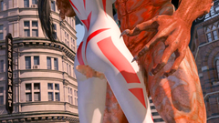 Kinky girl Lumina in extreme holes bang vs three 3D Monsters | Lumina vs 3