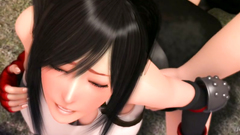 Perfect 3D Tifa Lockhart with huge tits squirting of hardcore sex | Final Fantasy