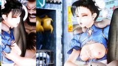 Horny 3D girl from Tekken gets nice creampie in her wet twat