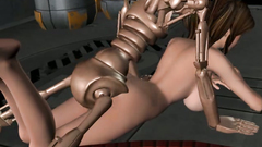 Angry Robot caught innocent girl and satisfies their machine sex instincts