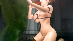 BDMS porn where a hung creature sticks a big cock into young 3d babe's cunt