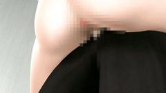Short-haired slut in glasses seduced for a toilet fuck