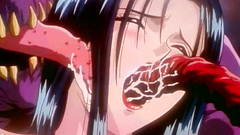 Young hentai babe attacked and nailed by ugly tentacles