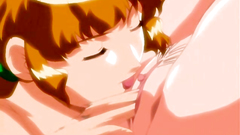 Naked busty lesbians in awesome hentai cartoon