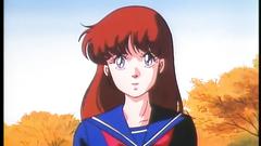 Handsome and young schoolgirl in hentai cartoon