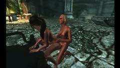 Hardcore 3d fuck in futanari cartoon with naked babes