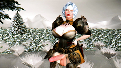 Fantasy adventures of hot babe with big hard cock