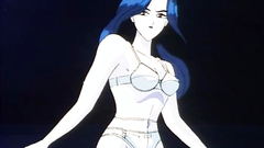 Classy lady in sexy lingerie in erotic anime cartoon
