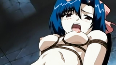 BDSM stuff and strapons in old school hentai cartoon