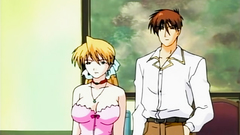 Lustful and submissive anime babes in hentai cartoon
