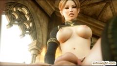 Shemale 3D hentai Eralin and Merlin sucking bigcock