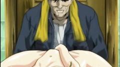 Anime coeds threesome hard sex by pervert