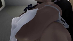 3D Futanari Cums Inside Teen Pussy!