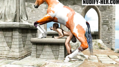Lara Croft Horse Fatality (All the way through)